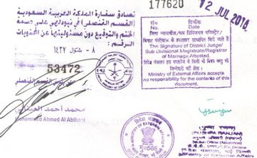 Saudi Embassy Attestation, Saudi embassy attestation in Delhi, Chennai, Mumbai